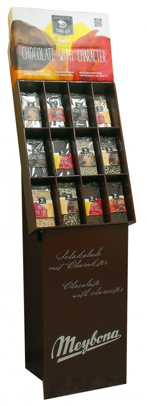 CHOC4U-Display braun Standdisplay